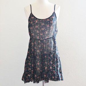Dresses & Skirts - Sheer Floral Layering Dress Black Size Large
